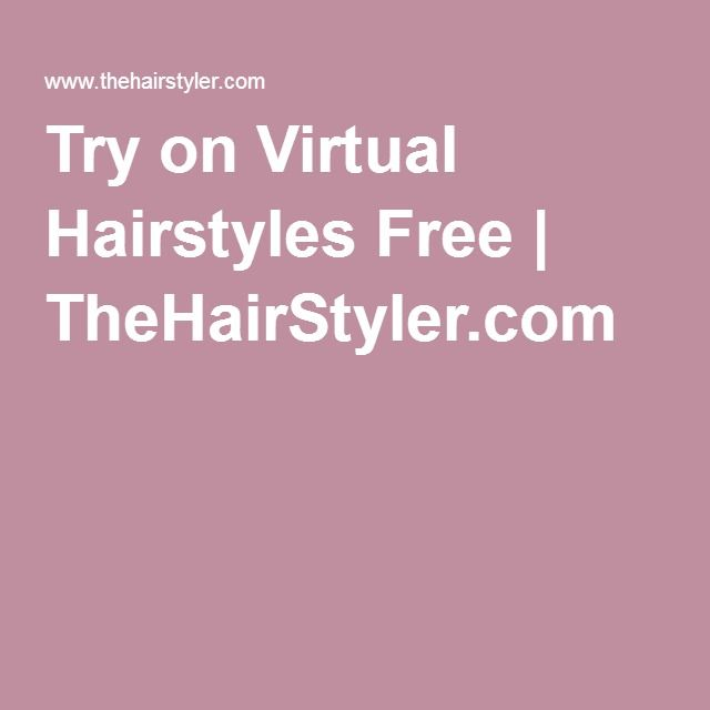 Try on Virtual Hairstyles Free   TheHairStyler.com