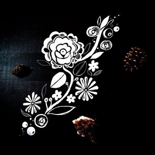 Folklore inspired floral motif on wood. Today I... | Sova Hůová