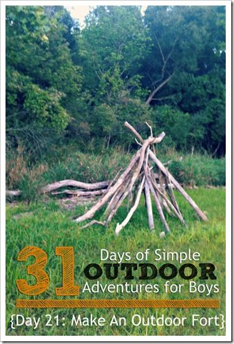 How To Build An Outdoor Fort {Simple Outdoor Adventures for Boys} || 4tunate.net