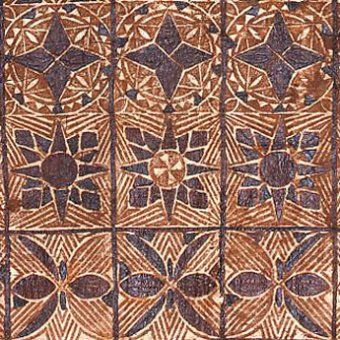 TAPA CLOTH  Samoan painted and beaten bark cloth