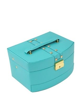 52% OFF Bey-Berk 3-Level Studded Leather Jewelry Box, Turquoise