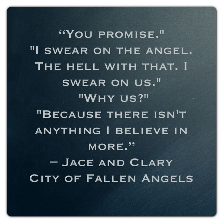 Jace and Clary (City of Fallen Angels ~ Mortal Instruments)