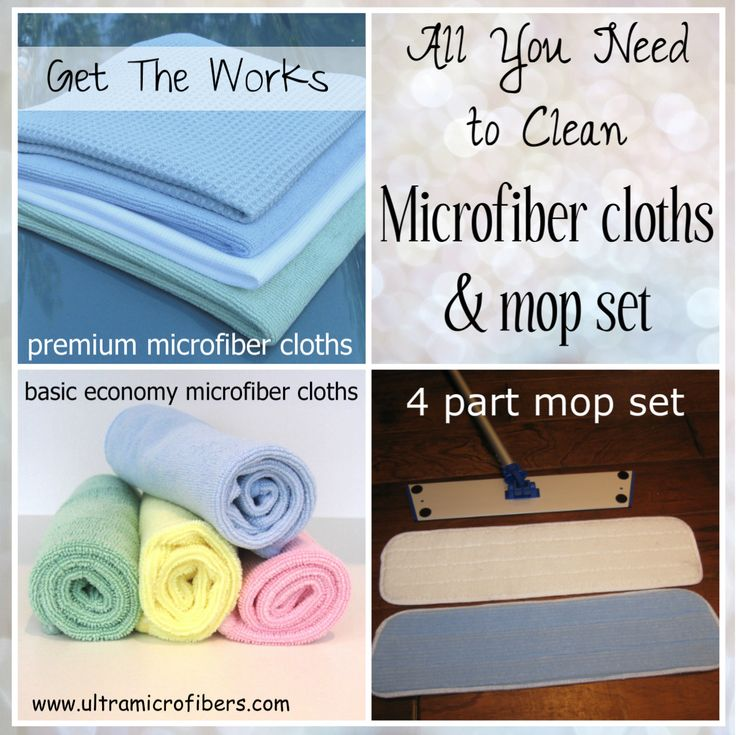 "Spring Cleaning Clearance sale ~ 25% off price slash on  microfiber flat mops  ~ $75 with free shipping ~ All you need to clean your home. Microfiber cloths, flat mop set. Get ""The Works"" - for windows, general cleaning, kitchen, dishes #cleaning #microfiber http://www.ultramicrofibers.com/Good_Value_Promotional_Sets/the-works-promotional-set"