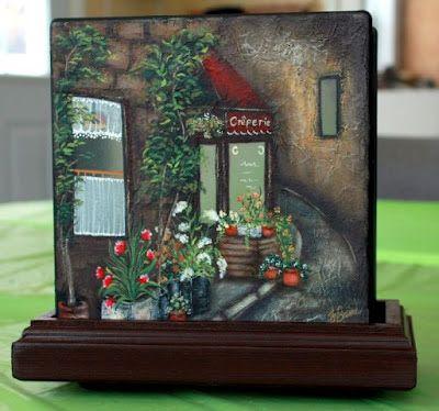 L'atelier de Francine: Déco sur bloc de verre