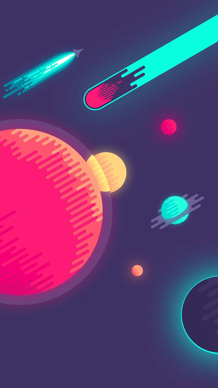 Space Minimal Art Illustration #iPhone #6 #plus #wallpaper
