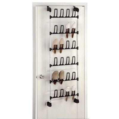 OIA Over Door Shoe Rack    -narrow front closet