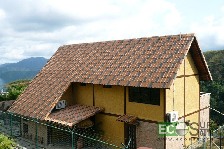 Roof tiles made with cement. Easy to make and to install