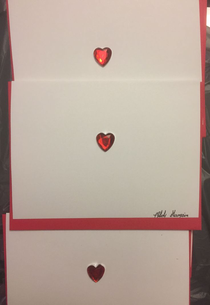 """""""Simply Love"""" Greeting Card & Design by Melody Germain of My """"Escape"""" Art with Heart Embellishment"""