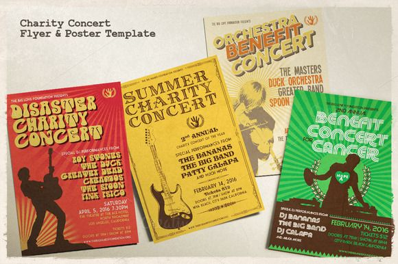 Charity Concert Flyer & Poster by Rooms Design Shop on Creative Market