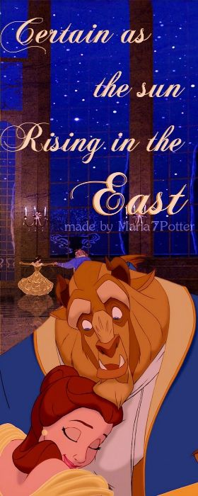Tale as old as time...song as old as rhyme. Beauty and the Beast. <3 I freaking loveee this movie!