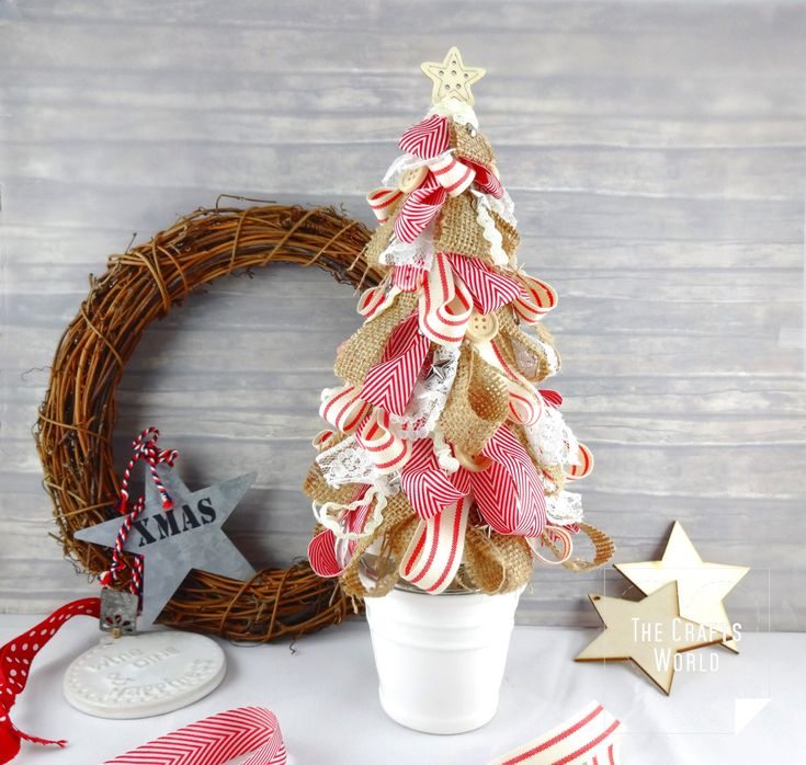 If you like ribbons and you know that you have so many cuttings, you will probably like the idea of this tree.   Decorate a polystyrene cone with ribbon and lace cuttings and make a shabby chic Christmas tree to decorate a corner in your house or place it on top of a table this …