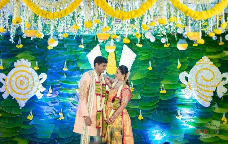 Telugu wedding decor. South indian Telugu wedding