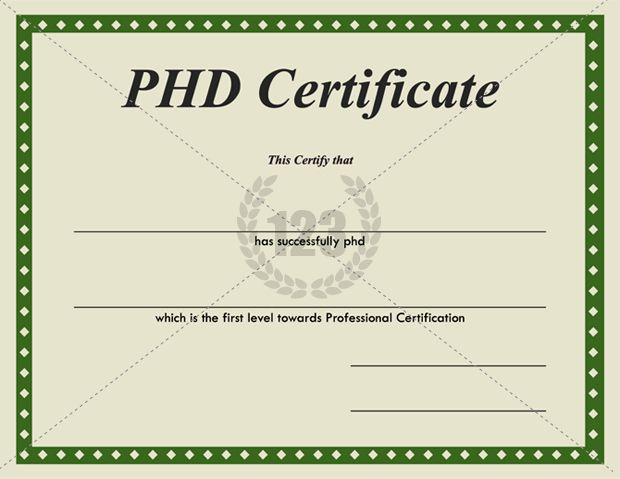 Most valuable PhD Certificates for Download ...