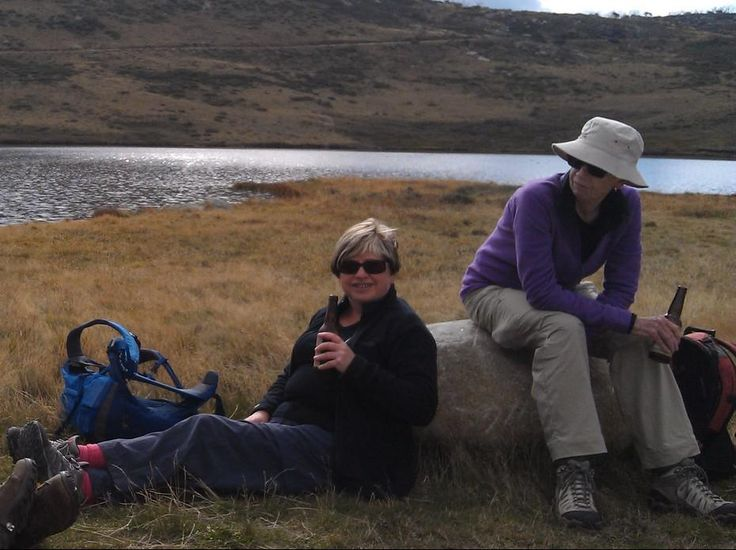 Hiking in Victoria's High Country | Hedonistic Hiking - Relaxing with a beer at the end of the hike