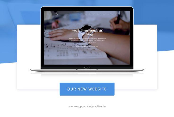 appcom interactive website | relaunch | web design | macbook | duesseldorf | designs | apps | websites - home | video