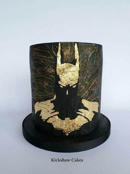 And for the groom. That's gold leaf on the silhouette! Stunning  Cake Wrecks - Home - Sunday Sweets: Geek Chic WeddingCakes
