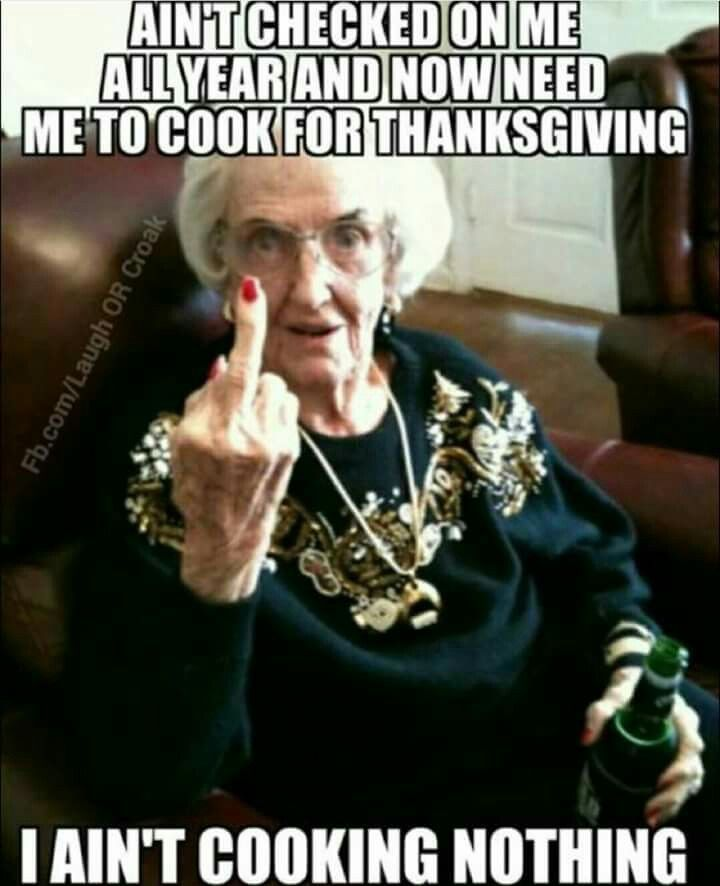 Bitter Grandma On Thanksgiving thanksgiving pictures thanksgiving images…