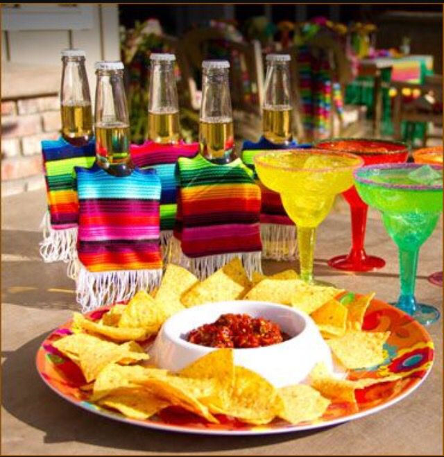 Mexican Themed Dinner Party Ideas Part - 39: Decorations!