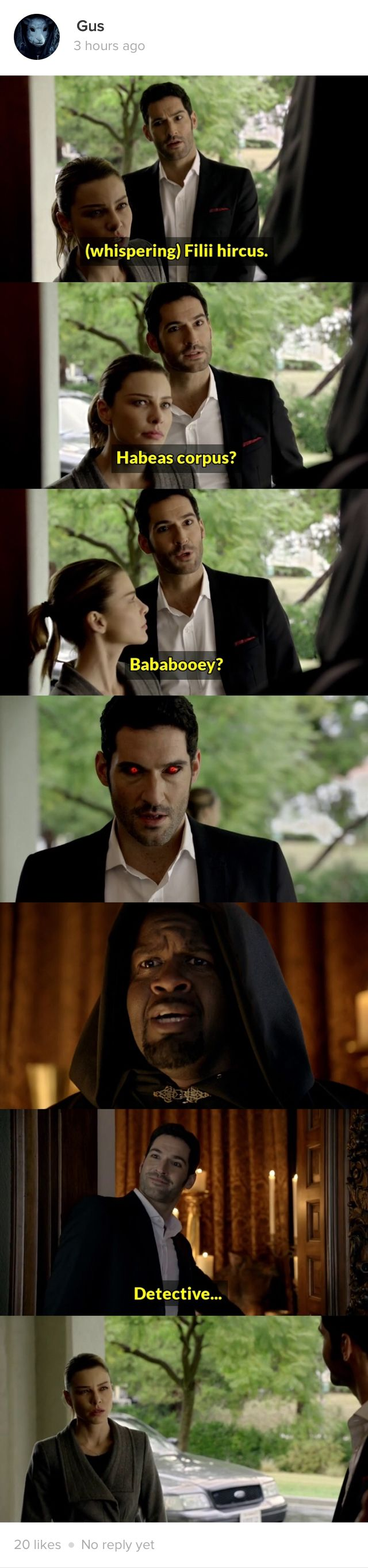 lol. how Lucifer gets in to anywhere xD