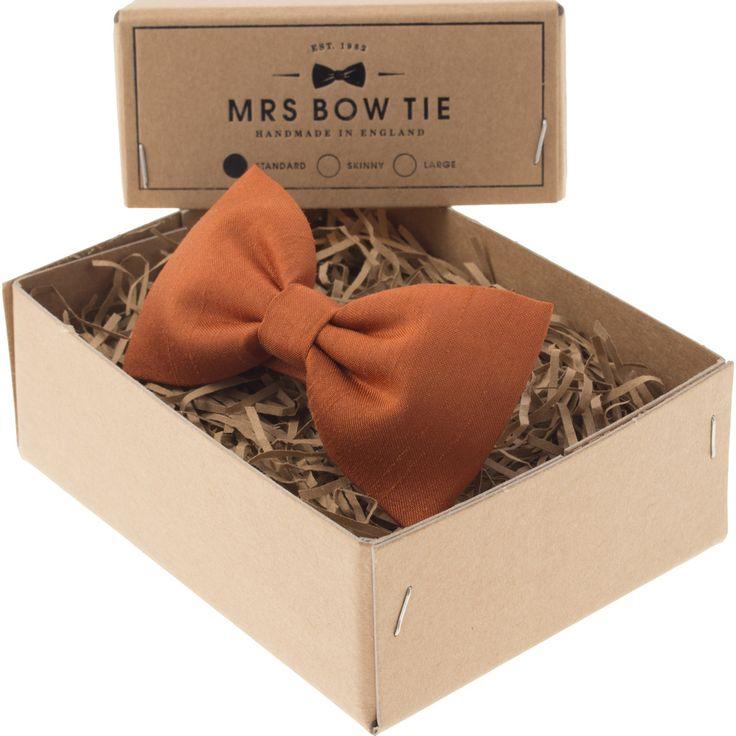 Mrs Bow Tie Faux Silk Ready-Tied Bow Tie | Copper