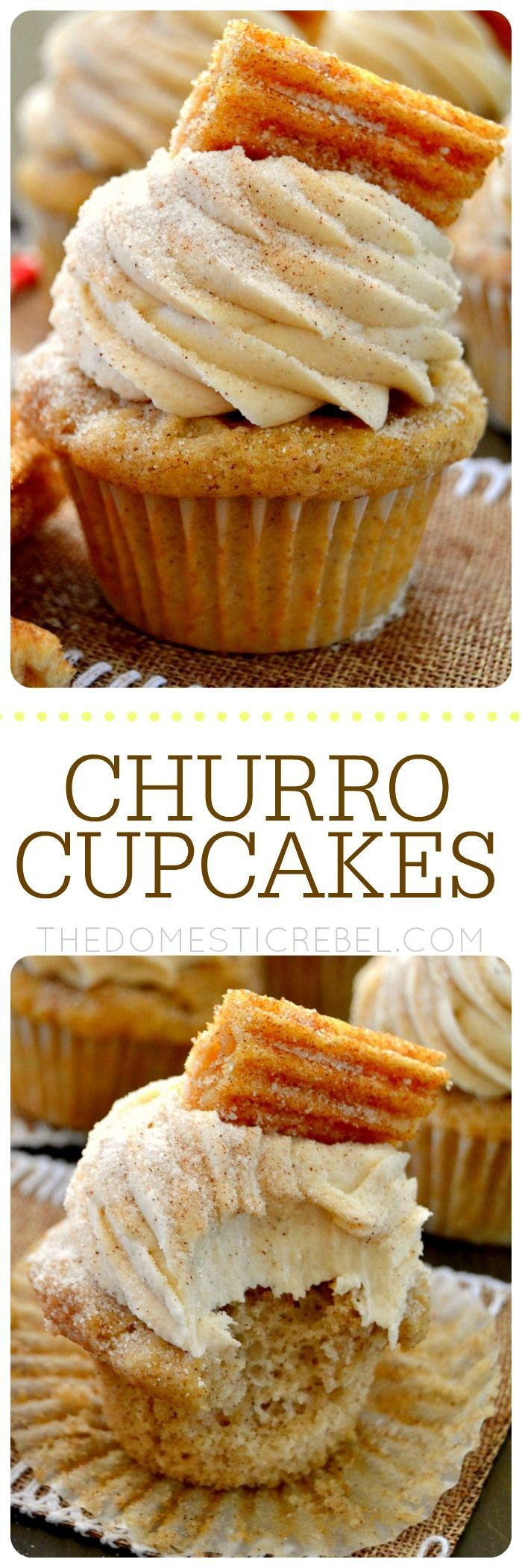 These Churro Cupcakes are bursting with cinnamon sugary goodness in every bite…