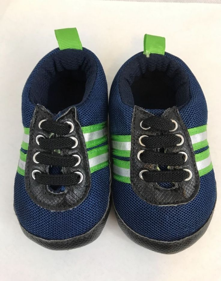 Blue Green White Stripe Slipper Tennis Shoes Size 3   Clothing, Shoes & Accessories, Baby & Toddler Clothing, Baby Shoes   eBay!