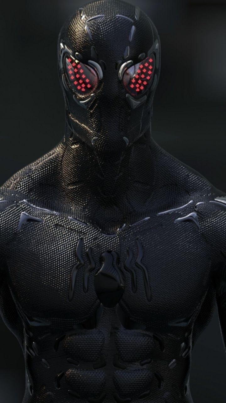 Black, Spider-man, artwork, 720x1280 wallpaper | Spider ...