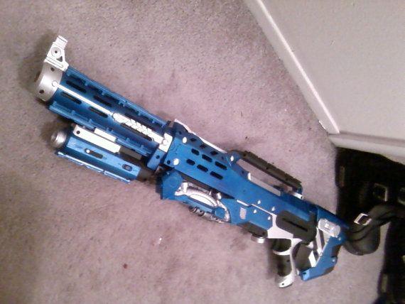 Painted Nerf Longshot Sci-fi Style Cosplay LARP gun von DrDisco