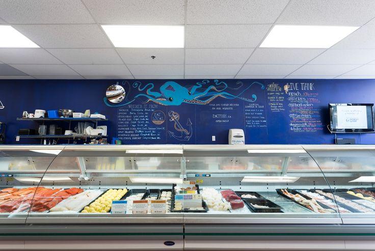 Retail Design - FISH fresh ideas start here chalk board art www.jessicaelliott.ca