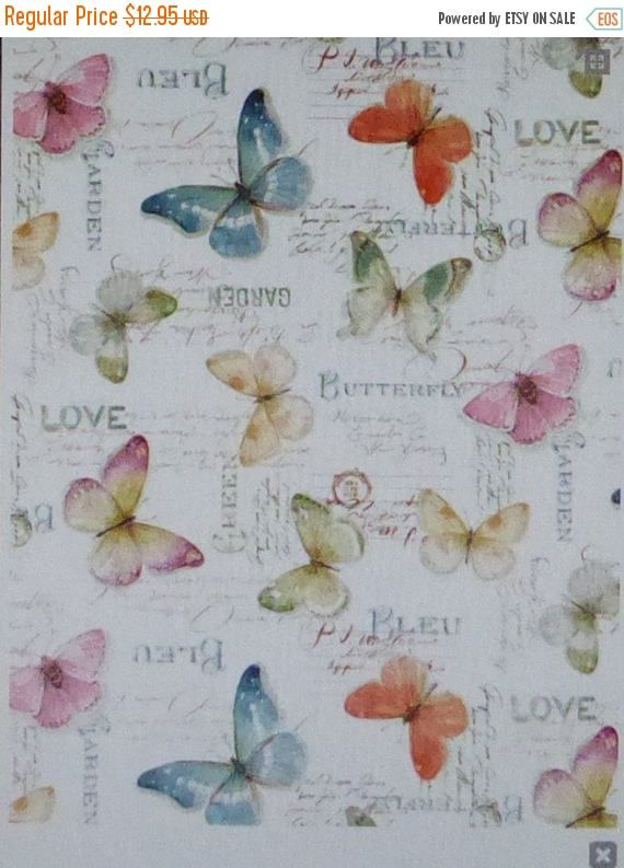 YEAR END SALE Rainbow Seeds~Butterflies~Cotton Fabric by Wilmington Prints~Home Decor Quilt~Fast Shipping,N375