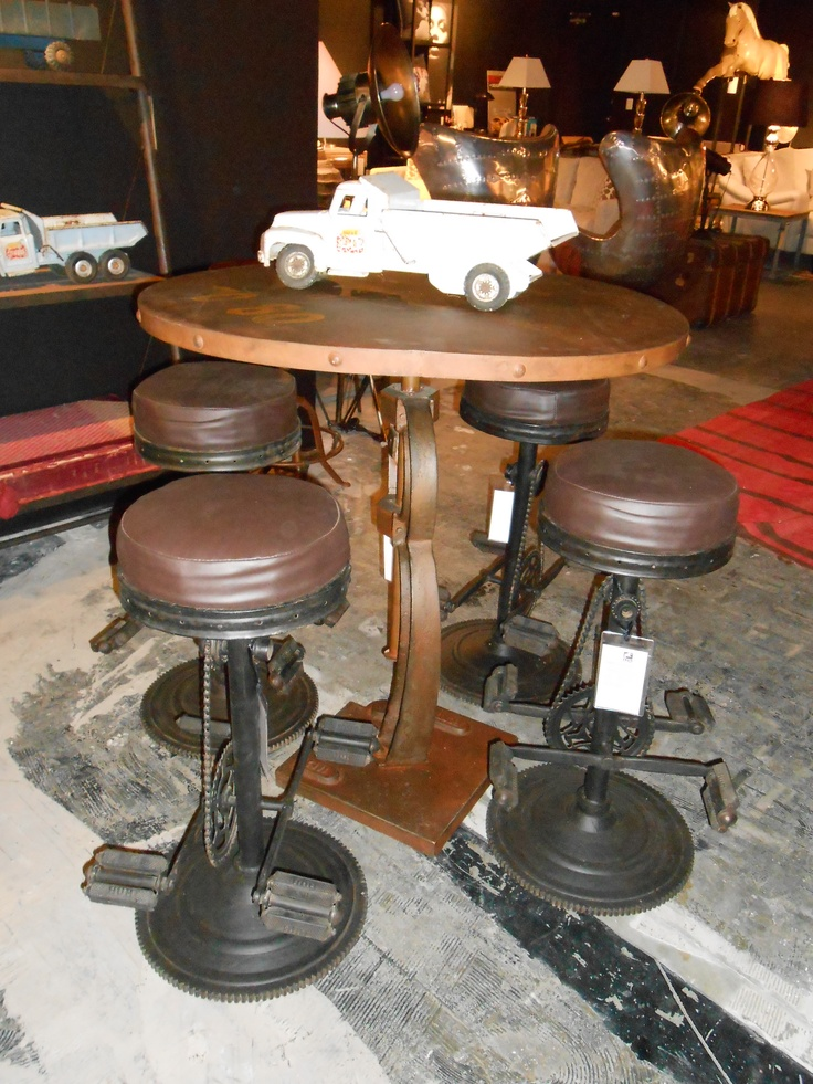 New at houston peddle stools with bar table andrew