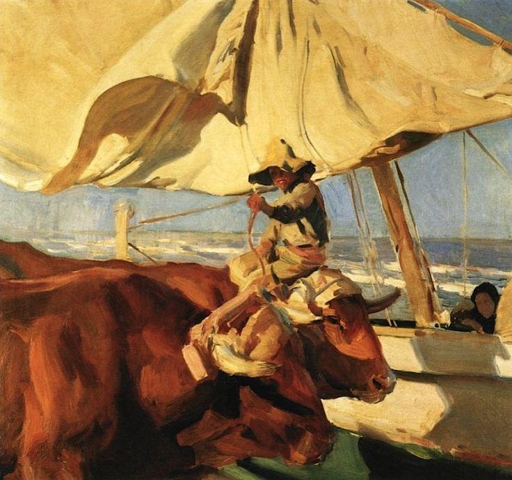 Joaquín Sorolla y Bastida. Afternoon Sun, Playa de Valencia, 1910. Oil on Canvas. 100 x 110 cm.