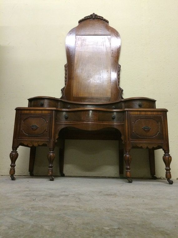 Vanity / Dresser Antique Victorian Makeup by ProvincialButFrench