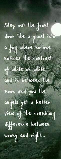 Quite possibly one of my favorite lyrics ever.