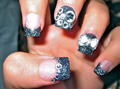 i need these nails! - 110 Best Crystal Nails Images On Pinterest Cute Nails, Nail