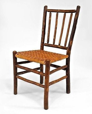 Hickory Chairs For Sale Keekaroo High Chair Parts Rustic Old Side With A 4 Spindle Back Rattan Seat Antique Visit To Purchase