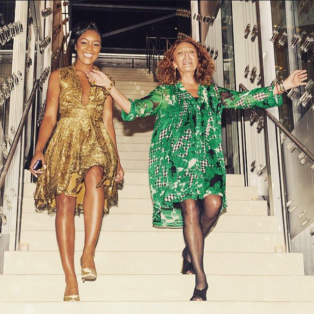 Brittany Hampton and Diane Von Furstenberg http://rosaaffair.blogspot.pt/2015/01/first-ever-dvf-global-brand-ambassador.html