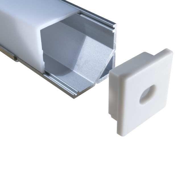 Eloxierte Aluminium Eckprofile Ecke 90 Und Passende Abdeckungen Clips Und Endkappen Fur Led Streifen Finden Sie Hier V Led Streifen Led Aluminium
