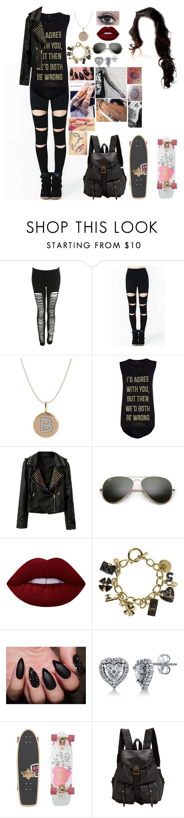 """Untitled #683"" by skh-siera18 ❤ liked on Polyvore featuring Miss Selfridge, River Island, Ray-Ban, Lime Crime, Chanel, BERRICLE, Disney, Dusters and Jas M.B."