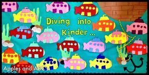 Ocean Themed Back To School Bulletin Board