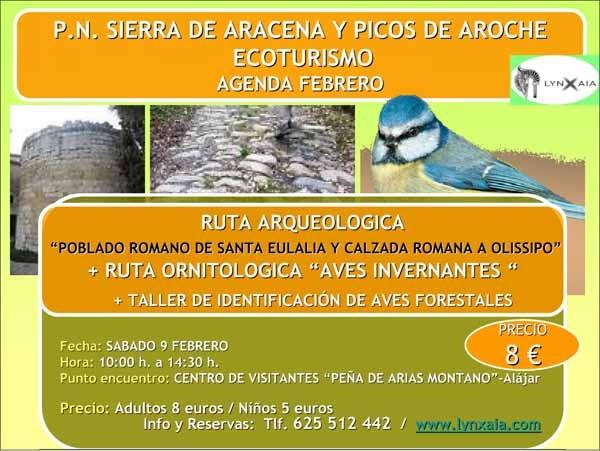http://www.ruralholidays.com PROPONE: http://www.lasierranoticias.com/index.php?option=com_content=article=1917:nueva-ruta-arqueologica-para-este-fin-de-semana-en-alajar=101:fiestas-y-tradiciones=651