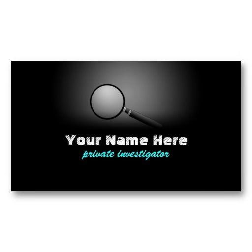 20 best private investigator business cards images on pinterest private investigator business cards colourmoves