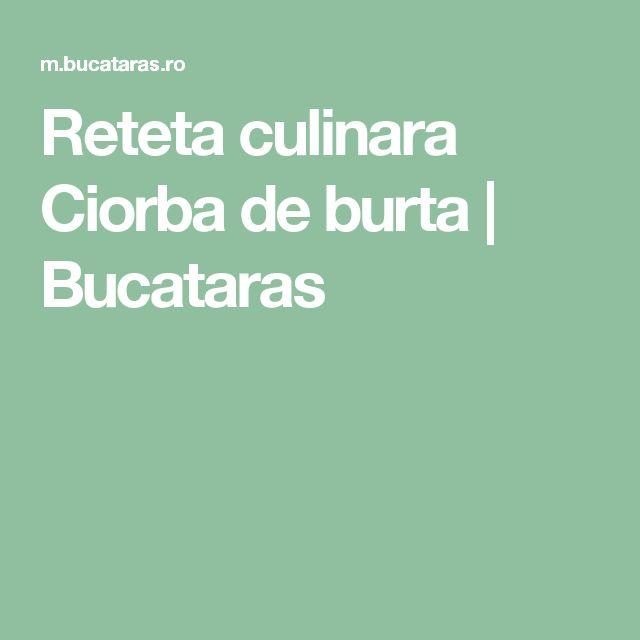 Reteta culinara Ciorba de burta   Bucataras