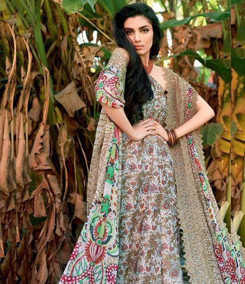 Gul Ahmed Embroidered Chantilly Chiffon Collection Vol-1 CT-105