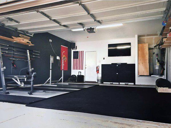 Top 75 Best Garage Gym Ideas Home Fitness Center Designs Garage Gym Home Gym Design Gym Room At Home