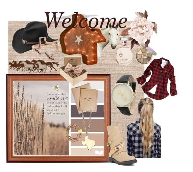 """Welcome to Texas "" by katherine-chocolate on Polyvore featuring tarte, Master Hatters of Texas, Natural Curiosities, Blowfish and Olivia Pratt"
