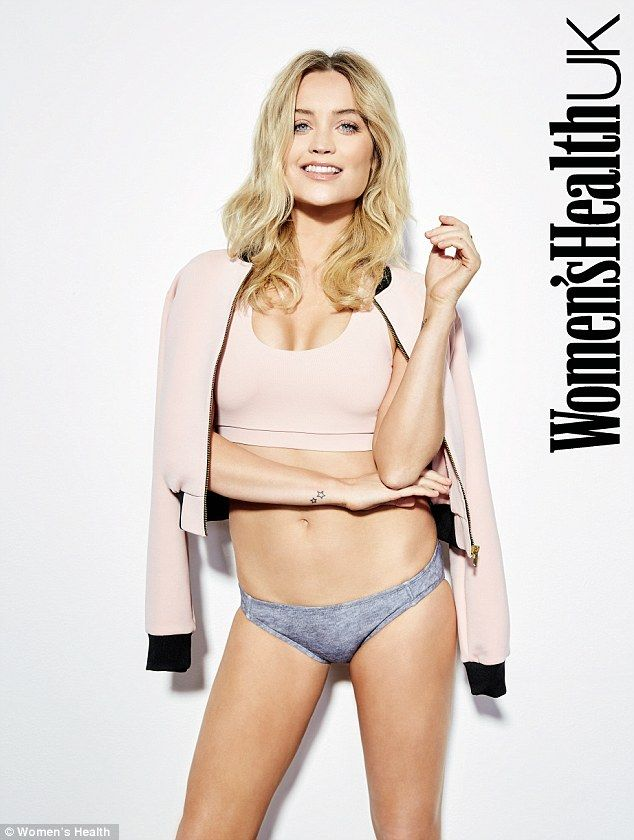 Sizzling: Laura Whitmore, 31, revealed she has never been more confident in her figure, which she showcased in a series of scantily-clad shots for Women's Health magazine