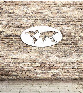 carte du monde ovale par remnantsteel sur etsy deco murale pinterest carte du monde le. Black Bedroom Furniture Sets. Home Design Ideas