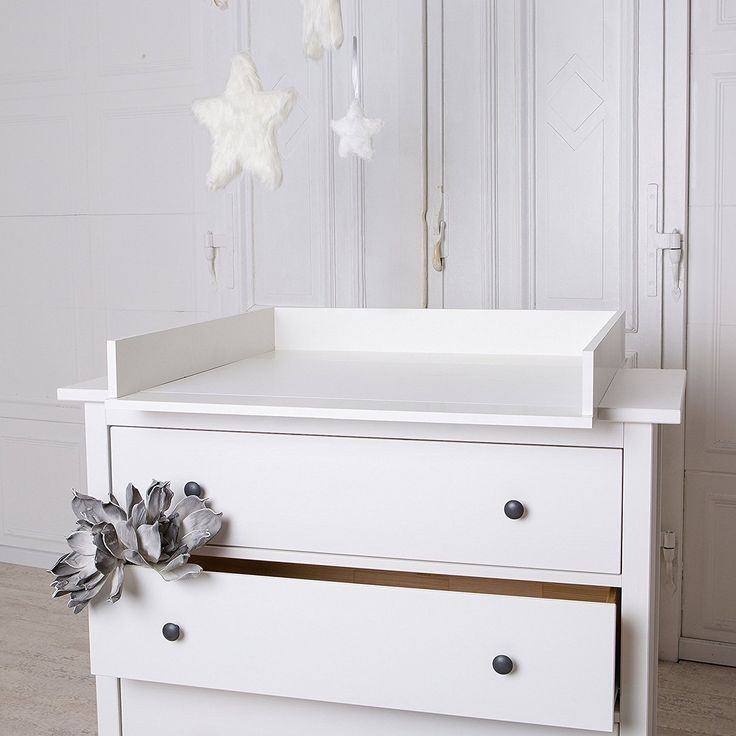 table langer fixationtop blanche pour commode ikea hemnes - Table A Langer Commode