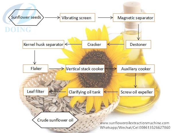 Sunflower Oil Production Process Flow Chart Sunflower Oil Oils Leaf Filter